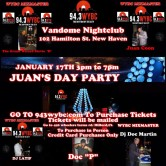 Juan's Day Party – Saturday, January 17, 2015 3-7pm
