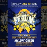 The 2015 3rd Annual Freedom Festival – Sunday, July 19th, 12-8pm At McLevy Green, Bridgeport, CT