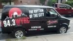 94.3 WYBC FM Street Takeover 2014 Van